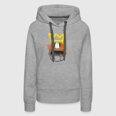 crown above football helm - Women's Premium Hoodie