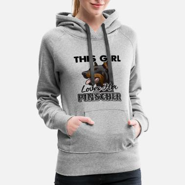 Doberman This Girl Loves Her Pinscher Shirt - Women's Premium Hoodie