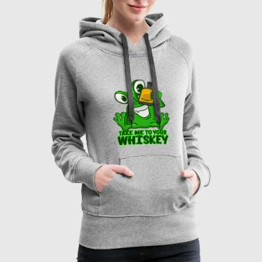 Take Me To Your Whiskey T-Shirt Funny Space Green - Women's Premium Hoodie