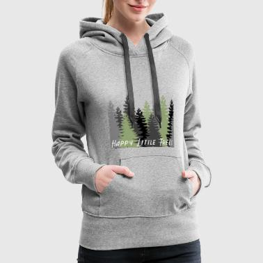 Cloud Happy Little Trees T-Shirts & Gifts Bob Style Ross - Women's Premium Hoodie