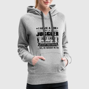 My Son Is A Juggler Shirt - Women's Premium Hoodie