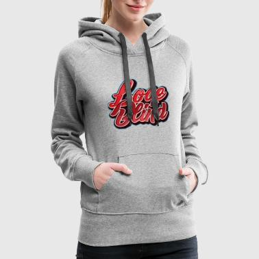 Love Is Blind T-Shirt Vintage Romance Affection - Women's Premium Hoodie