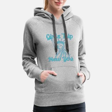 Bachelorette Party Girls trip new york 1 - Women's Premium Hoodie