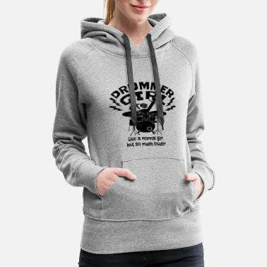 Ludwig Drummer Girl Drumming Queen Percussion Drum Player - Women's Premium Hoodie