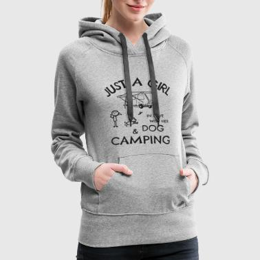 Just a Girl In Love With Dog and Camping - Women's Premium Hoodie
