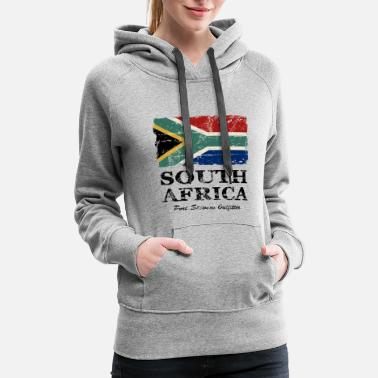 Africa South Africa Flag - Vintage Look  - Women's Premium Hoodie