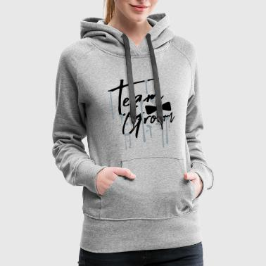 drop graffiti fly text men team groom man gentlema - Women's Premium Hoodie