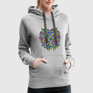 Colourful lion. - Women's Premium Hoodie