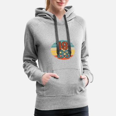 1982 1983 Birthday Year Retro Vintage Distressed Gift - Women's Premium Hoodie