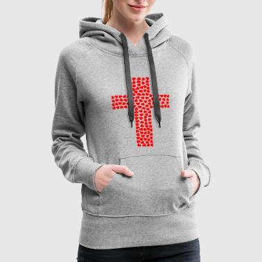 God LOVE Cross JESUS Faith GIFT Idea CHRIST - Women's Premium Hoodie