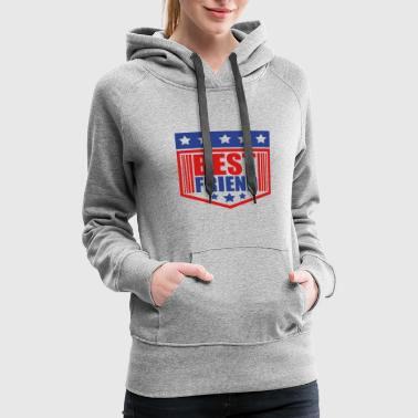 emblem shield stars best friends text logo friends - Women's Premium Hoodie