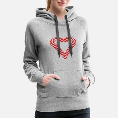 Formal love heart in love shape candy cane tasty candy su - Women's Premium Hoodie