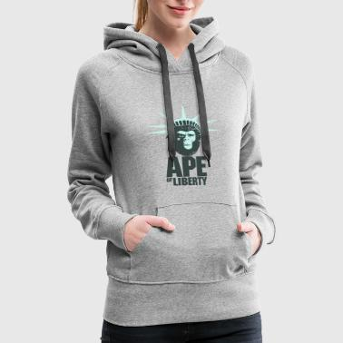 Ape of Liberty - Women's Premium Hoodie