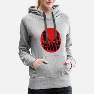 Scary Red color scary face - Women's Premium Hoodie