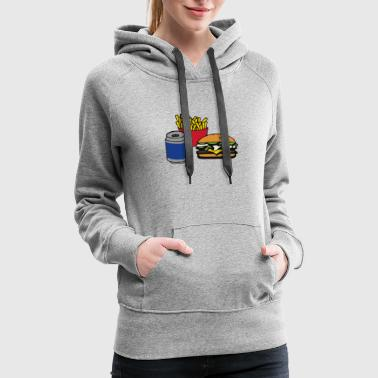 Fries and Cheeseburger - Women's Premium Hoodie