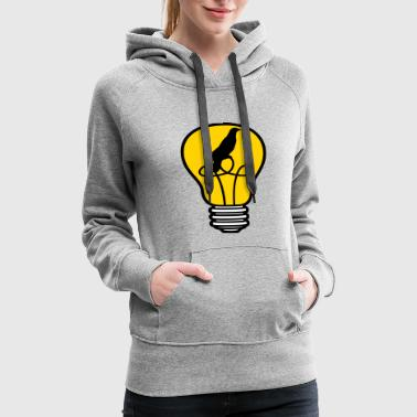 bird cage caught bird bulb light stream idea smart - Women's Premium Hoodie