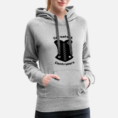 Corset Corsets and Controllers Logo - Women's Premium Hoodie