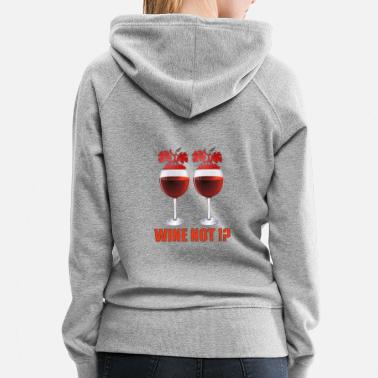 Red Wine Wine red wine glass - Women's Premium Hoodie