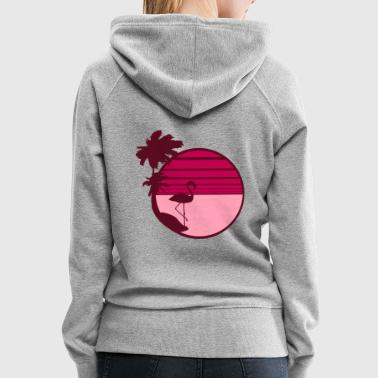 summer sun beach palms island vacation vacation se - Women's Premium Hoodie