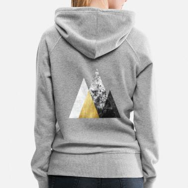 Austin Grungy Marbled Mountain Graphic - Women's Premium Hoodie