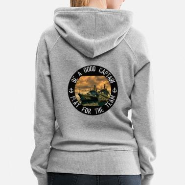 Rounders Frigates on the wharf for players of sea battles - Women's Premium Hoodie