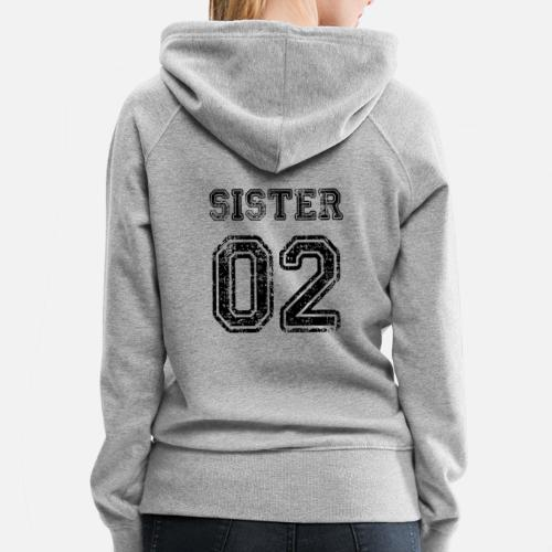 Womens Premium HoodieSister 02 Sisters Brother Family Birthdays