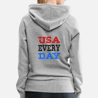 San Francisco USA Every Day lettering - Women's Premium Hoodie