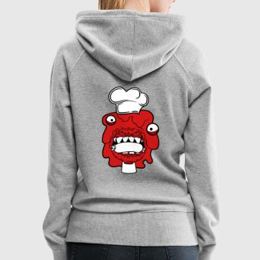 sausage cook eat chef apron hunger delicious dange - Women's Premium Hoodie