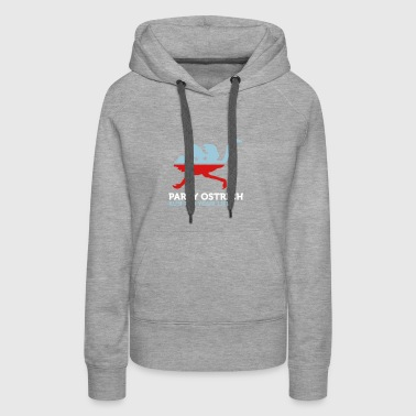 Political Party Animals: Ostrich - Women's Premium Hoodie