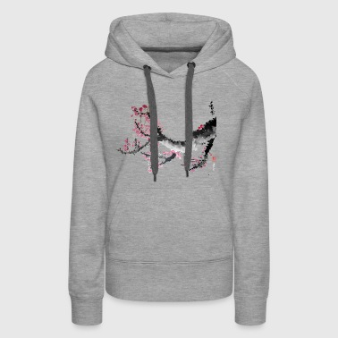 Flowering tree branch big - Women's Premium Hoodie