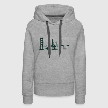 Coast Through Coast - Women's Premium Hoodie