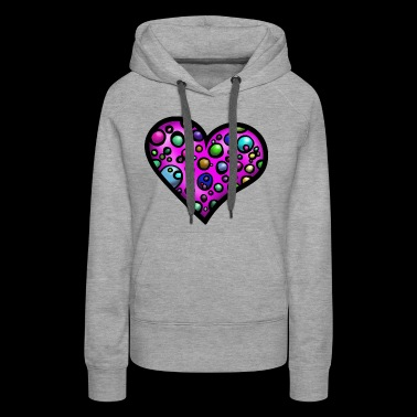 Heart multicolored - Women's Premium Hoodie