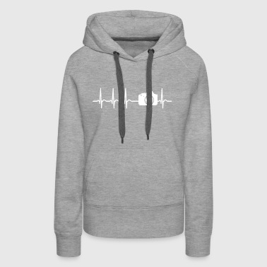 Heartbeat Photograph Camera Picture Funny Gift Fun - Women's Premium Hoodie
