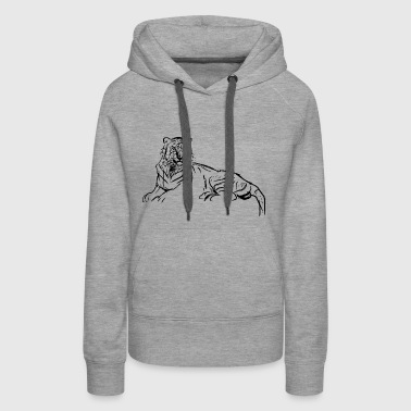 tiger cat raumkatze animal tiere predator - Women's Premium Hoodie