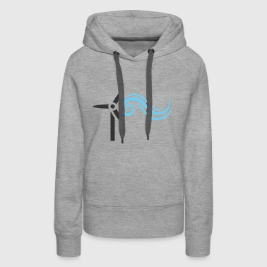 Wind Energy Nature Craft Voltage Electricity Gift - Women's Premium Hoodie
