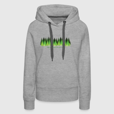 May the Forest Be with You - Women's Premium Hoodie