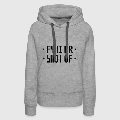 SHUT UP hidden message - Women's Premium Hoodie