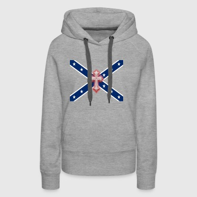 Confederate Stars & Cross - Women's Premium Hoodie