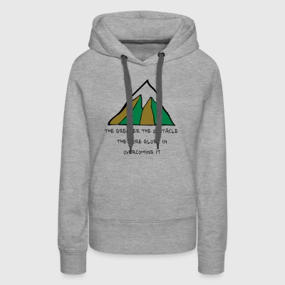 The Glory of Obstacles - Women's Premium Hoodie