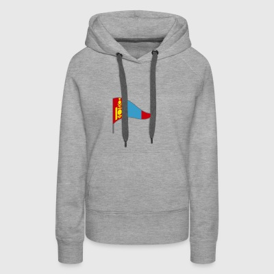 Mongolia China Russia Flags Banner Ensigns Nomadic - Women's Premium Hoodie