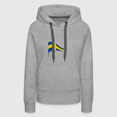 Sweden SWE Stockholm Flag Banner Flags Ensigns - Women's Premium Hoodie