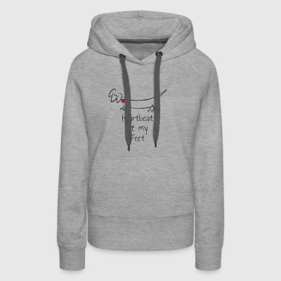 Heartbeat at my Feet - Women's Premium Hoodie