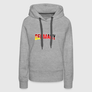GERMANY Text gift Flag Banner World Cup Flagd - Women's Premium Hoodie