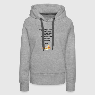 My eating schedule - Women's Premium Hoodie