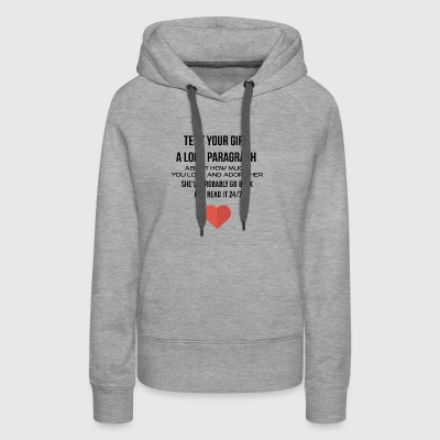 Text your girl a long paragraph - Women's Premium Hoodie