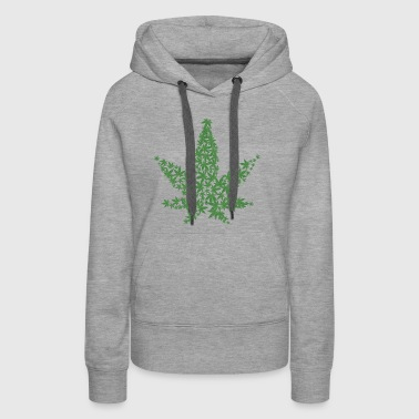 Cannabis One Love 420 Natural Medicinal Plant Leaf - Women's Premium Hoodie