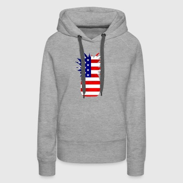 Pineapple United States Flag - Women's Premium Hoodie