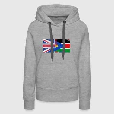 British Sudanese Half South Sudan Half UK Flag - Women's Premium Hoodie