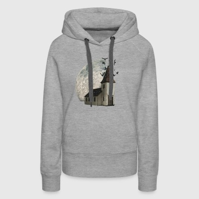 House with moon - Women's Premium Hoodie