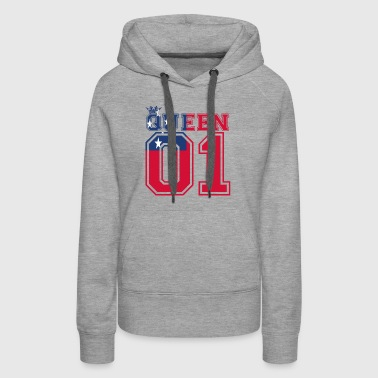 partner land queen 01 princess Samoa - Women's Premium Hoodie